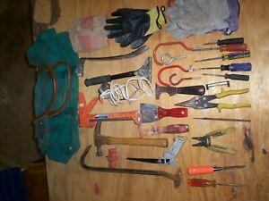 Lot Of 52 Misc Construction Tools With Tote Bag Used
