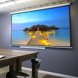 Hd 100 16 9 Manual Pull Down Projector Screen Material 1 1 Gain Matte White