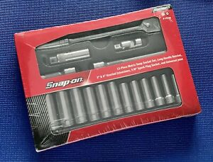 New Snap on 17 Piece 3 8 Drive Metric 6 Point Ratchet Socket Set Starterset3