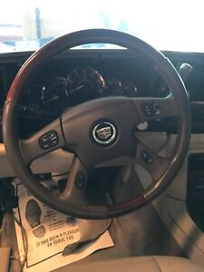 03 04 05 06 Cadillac Escalade Leather Woodgrain Steering Wheel W Buttons