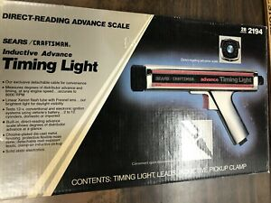 Vintage Sears Craftsman Inductive Advance Timing Light 28 2194 Box Leads Manual