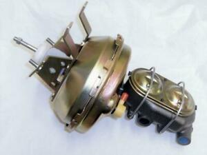 1963 1967 Chevy Corvette 9 Single Brake Booster W Bail Top Master Cylinder