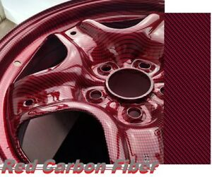 19x797 Dark Red Carbon Water Transfer Printing Film hydrographic Fast Ship Us