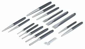 Otc 4600 16 Piece Punch Chisel Set Center Taper Pin Punch New Free Shipping