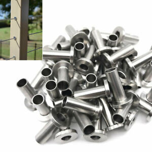 50 200pcs T316 Stainless Steel Protector Sleeve For 1 8 3 16 Cable Railing Usa