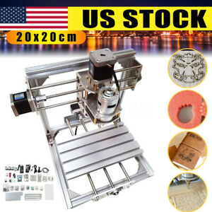 Us 20x20cm 3axis Diy Cnc Router Engraver Wood Milling Carving Engraving Machine