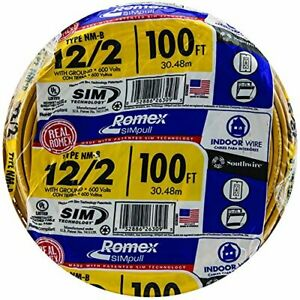 Southwire 28828228 100 12 2 With Ground Romex Brand Indoor Electrical Wire