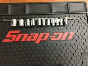 Snap On 1 2 Drive 6 Point Metric And Standard Drive Shallow Socket Set 11 Pc