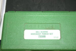 Greenlee 735 735bb Knockout Punch Set Made In Usa Brand New