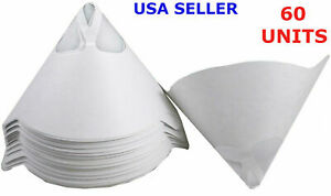 60 Pcs Filters Purified Cup Micron Conical Nylon Paper 100 Mesh Paint Strainer