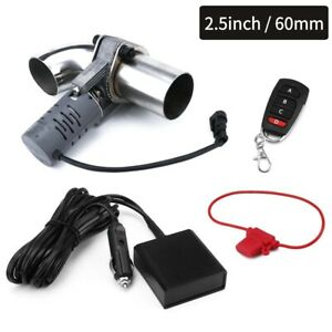 2 5 63mm Exhaust Cutout System E Cut Out W Electric Remote Control Valve Kit