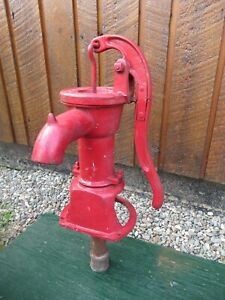 Old Cast Iron Hand Water Pump In Great Condition Great Color