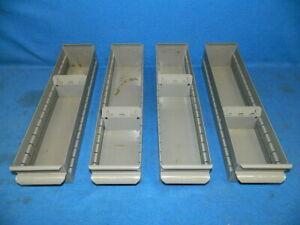 4 Equipto Industrial Metal Drawers 4 X 3 X 17 Steel Storage Parts Bins