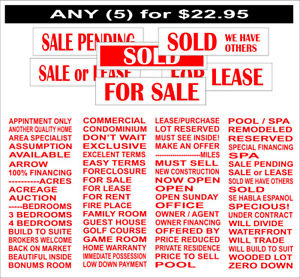 5 6 X 24 Real Estate Double Sided Coroplast Sign Riders