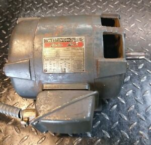 South Bend 16 Lathe 1 5hp Westinghouse 3 Phase Motor 7 8 Shaft Local Pickup