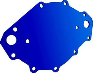 Cvr Water Pump Back Plate Billet Aluminum Blue Anodized Ford 429 460 Each