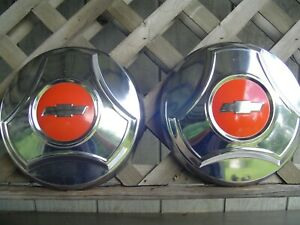 3 Vintage 1964 1965 1966 C 10 Chevy Chevrolet Pickup Truck Hubcaps Wheel Covers