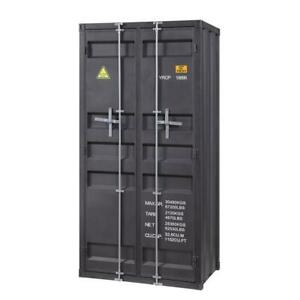 Acme Cargo Wardrobe Double Door In Gunmetal