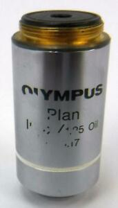Genuine Olympus Plan 100x 1 25 Oil Microscope Objective tested working
