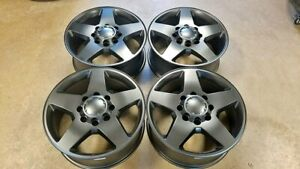 20 Chevy Silverado 8x180 Gmc Sierra 2500hd Factory Wheels Satin Black
