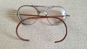 Antique Clear Ao Safety Glasses Vintage Retro Steampunk America Optical