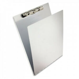 Aluminum Clipboard W writing Plate 3 8 Capacity Holds 8 1 2w X 12h Silver