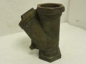 173865 Old stock Nibco Nl7500e Bronze Y Swing Check Valve T413b 2 1 2 Fnpt