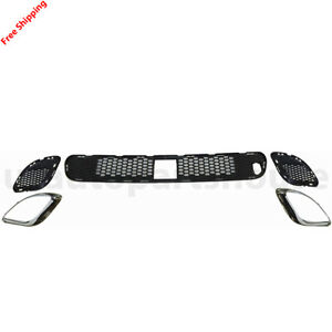 New For Jeep Grand Cherokee Fits 2012 2013 Front Grille Bumper Insert 5pic