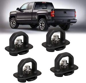 4pc Tie Down Anchor Truck Bed Side Wall Anchors For Pickup Gmc Chevy Truck Cargo