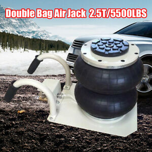 2 5t Double Bag Air Jack Pneumatic Jack Quick Lift Heavy Duty 5500lbs Usa Stock