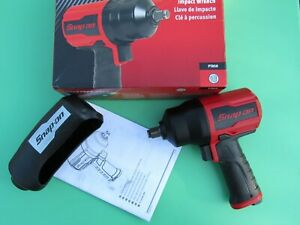 New Snap On Pt850 Red 1 2 Drive Impact Air Wrench Gun Pt 850 Box Black Boot
