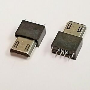 Micro Usb Type b Male 5pin Wire Solder Plug Connector 2 10 Or 100