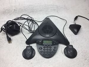 Cisco Cp 7936 Conference Station Ip Phone W Power Adapter Mics Good Cond