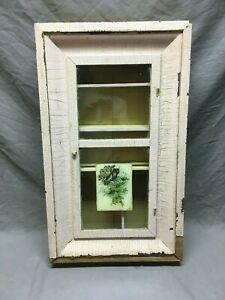 Vintage Medicine Cabinet Old Cupboard Mauve Shabby Cottage Chic Country 123 19e