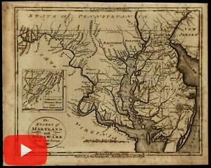 Maryland Delaware Va Nj 1799 Scoles Anderson Lewis Map American Produced