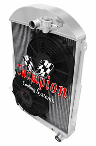 3 Row Sz Radiator W 2 10 Fans For 1939 Chevy Ja Master Deluxe Chevy V8 Conv