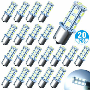 20x Super White 1156 1141 18 smd Rv Camper Trailer Led Interior Light Bulbs 12v