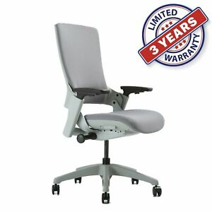 Adjustable Height Ergonomic Executive Office Chair Upholstered Back Desk Chiars
