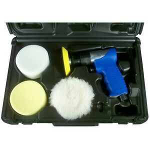 Astro Pneumatic 3055 Mini Air Polishing Kit With Pads Case