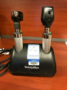 Welch Allyn Diagnostic Set Ophthalmoscope Otoscope Desktop Charger Free Ship