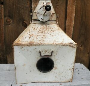 Tin Flour Sifter For Hoosier Cabinet Vtg Industrial Steampunk Robot Sculpture