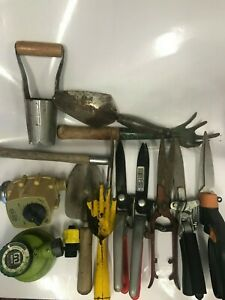 Large Lot Of Vintage Garden Tools