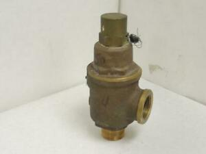 179214 Old stock Kunkle 20 E01 Bronze Safety Relief Valve 1npt 50psig