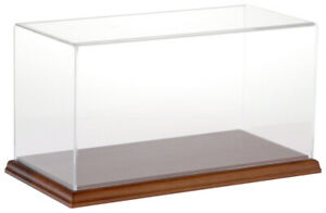 Plymor Clear Acrylic Display Case With Hardwood Base 12 W X 6 D X 6 H