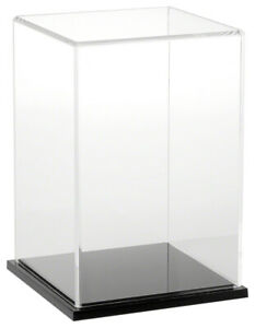 Plymor Clear Acrylic Display Case With Black Base 6 W X 6 D X 9 H
