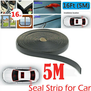 5m Rubber Weatherstrip Seal Strip For Car Triangular Windshield Sunroof Sealings