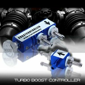 Universal Jdm In Cabin Manual Psi Turbo Adjustable Boost Controller Blue