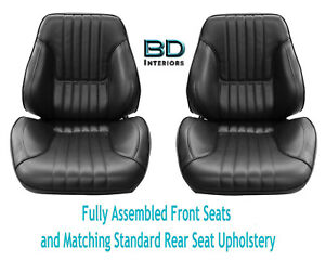 1968 Chevelle Touring Ii Front Bucket Seats Assembled Std Rear Seat Upholstery