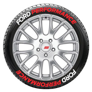 Ford Performance Tire Lettering 1 25 Letters 16in To 18in Wheels 8 Decals