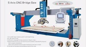 5 Axis Cnc Bridge Saw transportation installation And Training Included